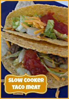 EASY Crock Pot Taco Meat!