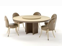 Noir Collection www.turri.it Round table with lazy susan