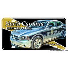 North Carolina State Highway Patrol First Sergeant Rank Aluminum License Plate