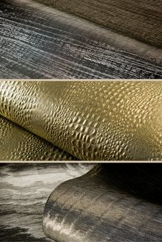Carapace Collection by ARTE Wallpaper - A combination of 3 exquisite, glistening textile wall coverings on non-woven backing.  #SatarianoHome  #Wallpaper