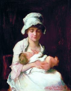 Motherhood - Mihály Munkácsy - The Athenaeum Tolkien, Portrait, Europe, 19th Century, Paintings, Sons, Mothers, Hungary, Mothers Love