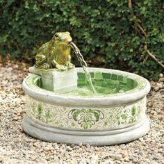 Mosaic Frog Fountain  | Ballard Designs | European-inspired home furnishings