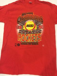Vintage '95 Back To Back World Champions Houston Rockets NBA T-Shirt by Twenty30tees on Etsy https://www.etsy.com/listing/225392534/vintage-95-back-to-back-world-champions
