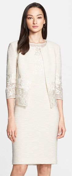 St. John Collection | Sparkle Shantung Knit Jacket | Spring 2015