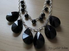 DIY: Chunky Black Statement Necklace from My Girlish Whims