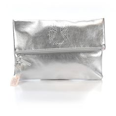 Pre-owned Victoria's Secret Clutch: Gray Women's Bags (1,510 DOP) ❤ liked on Polyvore featuring bags, handbags, clutches, grey, hand bags, victoria secret purse, pre owned handbags, grey handbags and handbags purses
