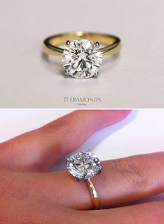 Solitaire with gold band.
