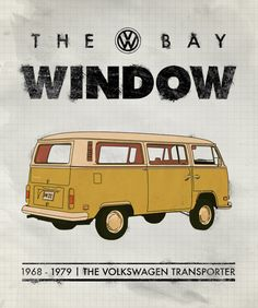 VW-Bay-Window-Bus-Poster #kombilove