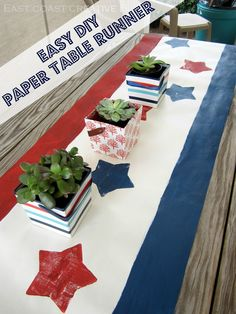 Easy DIY Paper Table Runner