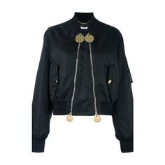 GIVENCHY Double Zip Bomber Jacket ($2,599) ❤ liked on Polyvore featuring outerwear, jackets, black, blouson jacket, givenchy jacket, long sleeve jacket, double zip jacket and flight jacket