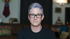 #TylerOakley with purple hair. Tyler: what is my best physical feature? Troye: ahhhhhhhh....I liked his purple hair.... *days later* PURPLE HAIR #troylerIsReal
