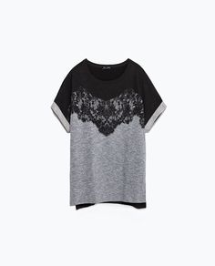 Image 8 of LACE T-SHIRT from Zara