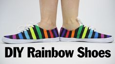 DIY Rainbow Shoes, ThreadBanger How to