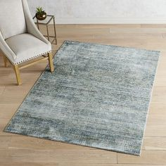 Pasha Heirloom Distressed Blue 8x10 Rug Room Rugs, Rugs In Living Room, Area Rugs, Rectangular Rugs, Ottoman Empire, New Homes, Home And Garden, Flooring, Traditional