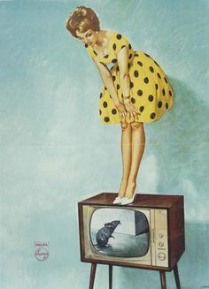 реклама телевизоров 60-е годы.