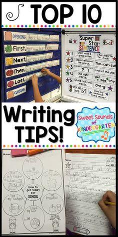 Sweet Sounds of Kindergarten : Top Ten Writing Tips