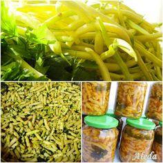 Aleda konyhája: Zöldbab télire Pavlova, Celery, Asparagus, Vegetables, Food, Studs, Essen, Vegetable Recipes, Meals
