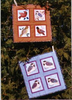 """A Song In My Heart ~ 4 birds to fit 4 """" or mini blocks - Instructions for Mini Quilt included - Cardinal - Chickadee - Oriel - Robin Applique Quilt Patterns, Animal Quilts, Fit 4, Robin, Birds, Holiday Decor, Heart, Mini, Animals"""