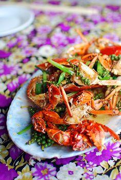 Peppercorn crab in Cambodia