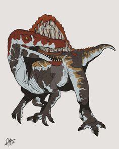 Spinosaurus (Jurassic Park Jurassic World) by Michiragi Jurassic Park Trilogy, Jurassic World 3, Jurassic World Dinosaurs, Jurassic Park Toys, Jurrassic Park, Park Art, Dinosaur Drawing, Dinosaur Art, Dinosaur Wallpaper