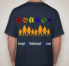 Autism Love Fundraiser - unisex shirt design - back