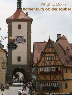 What to Do in Rothenburg ob der Tauber, one of Germany's prettiest towns. European Road Trip, European Vacation, European Destination, European Travel, Germany Europe, Germany Travel, Cool Places To Visit, Places To Go, Rothenburg Ob Der Tauber