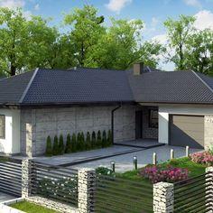 Z279 to wyjątkowy dom z kategorii projekty domów z czterema pokojami Beautiful House Plans, Beautiful Homes, House Front Design, Garage Doors, Building, Outdoor Decor, Home Decor, Projects, House