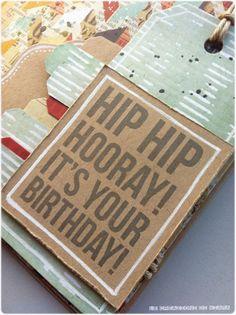 Le Creazioni di Kiara: CARD hip hip hooray IT'S YOUR BIRTHDAY
