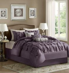 Plum Tufted Bedding