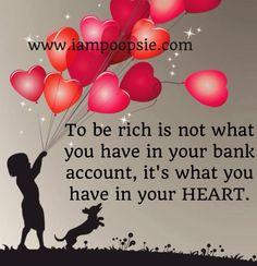 Heart quote via www.IamPoopsie.com