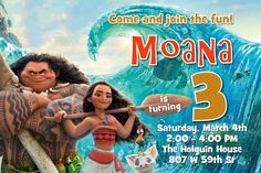 Moana Birthday Invitations - Digital Download - Get these invitations RIGHT NOW. Design yourself online, download JPG and print IMMEDIATELY! Or choose my printing services. No software download is required. Free to try!