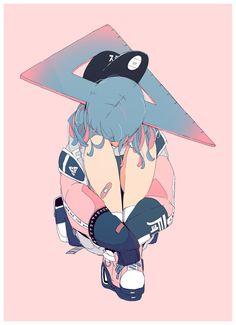Pretty Art, Cute Art, Aesthetic Art, Aesthetic Anime, Character Art, Character Design, Sun Projects, Anime Art Girl, Cute Drawings