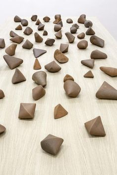 Gabriel Orozco  Orthocenter  2012  60 terracottas  Variable dimensions