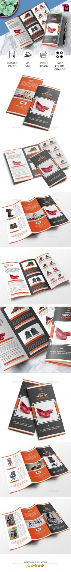 Trifold Product Catalog Template — InDesign INDD #tri-fold a4 catalog #indesign tri-fold catalog template • Available here → https://graphicriver.net/item/trifold-product-catalog-template/20705875?ref=pxcr