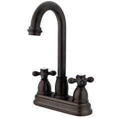 Double Handle Centerset Bar Faucet with Metal Cross Handles