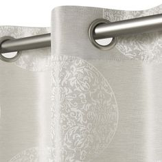 "Set of 2 Akola Curtain Panel Dove Gray (54""x84"") - Exclusive Home"