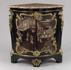 Stamped by Bernard van Risenburgh: Corner cabinet (encoignure) (one of a pair) Rococo Furniture, French Furniture, Wooden Furniture, Luis Xiv, Rococo Style, French Rococo, French Oak, Baroque, Corner Cupboard