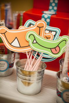 Lil' Monster 1st Birthday Party - Kara's Party Ideas - The Place for All Things Party