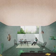 Galería de 12 oficinas que representan atmósferas arquitectónicas usando collage - 29