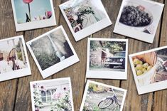 DIY: Polaroid-esque Coasters! Love the look of polaroid pictures? Make your own heavy-duty look-a-likes with just a few simple materials for some sturdy coasters that are as beautiful as they are functional!