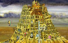 Babel Digital Art by Colin Thompson