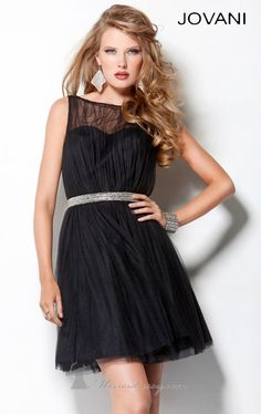 Shop it here: http://www.missesdressy.com/dresses/designers/jovani/jovani-homecoming/2158_2 #partydress #sleevesless #sheer #dress #black #posh #sweetheart #MissesDressy #JovaniHomecoming