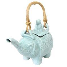 Novica Buddha & the Elephant Teapot