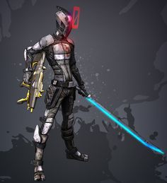 Zero - Borderlands 2. I love the design style- half Afro Samurai, half Robotech.