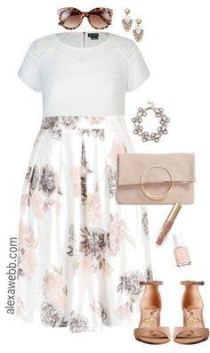 Plus Size White Essential Top {3 Ways} - Plus Size Spring Outfits - Plus Size Fashion for Women - alexawebb.com #alexawebb