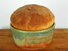 Bread Baker Bread Bowl Casserole Serving Dish by SwampFires, $34.00