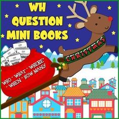 FREE. Students practice Christmas-themed WH questions while coloring in the visual cues to the answers. The paper folds into a book that the student takes home. HAPPY HOLIDAYS FROM THE SPEECHSTRESS!