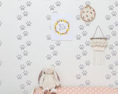 dog paw peel and stick wallpaper