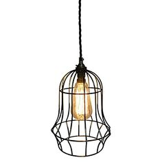 Industrial meets retro charm in the dazzling design of the Bell Cage Pendant Light from Fat Shack Vintage.