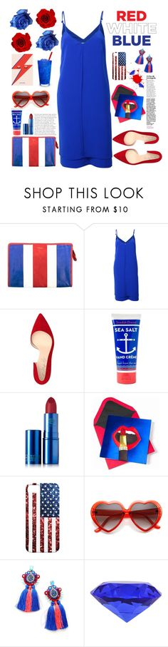 """""""happy 4 july time time"""" by licethfashion ❤ liked on Polyvore featuring Balenciaga, Shoes of Prey, Jayson Home, Lipstick Queen and Coral Blue"""
